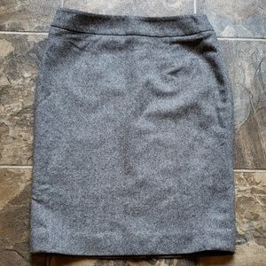 Brooks Brothers 346 Gray Heathered Pencil Skirt